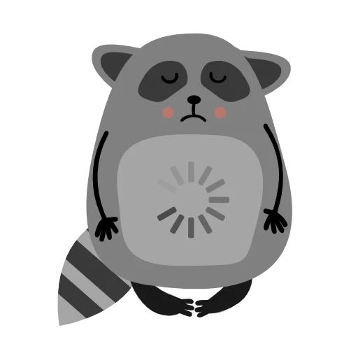 "Sticker ""Raccoon Nikita-11"""