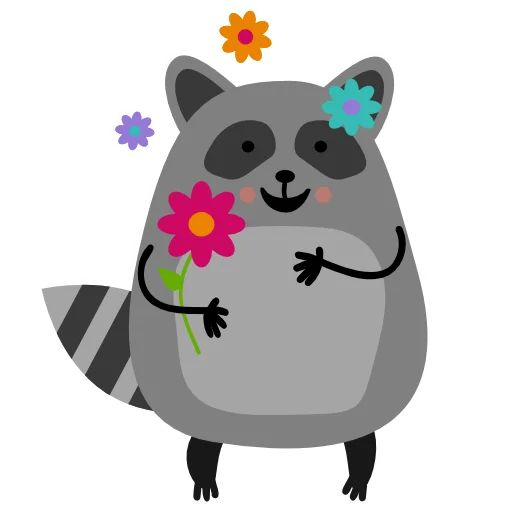 "Sticker ""Raccoon Nikita-6"""